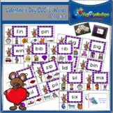 "Valentine's Day CVC ""I"" Words Clip Cards"