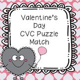Valentine's Day CVC Puzzle Match