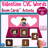 Valentine's Day CVC Short a Words for Boom Cards