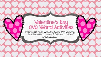 Valentine's Day CVC Word Activities