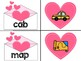 Valentine's Day CVC Word Literacy Center
