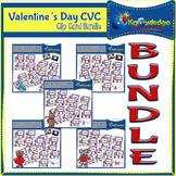 Valentine's Day CVC Words Clip Cards BUNDLE