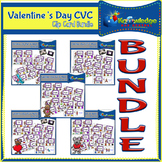 Valentine's Day CVC Words Clip Cards BUNDLE