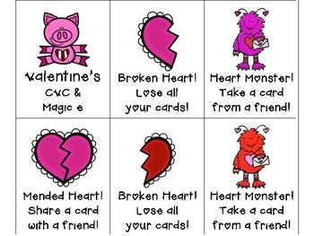 Valentine's Day CVC and Magic e Freebie