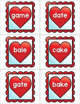 Valentine's Day CVCE Word Matching