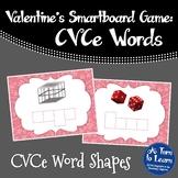 Valentine's Day CVCe Word Shapes Game (Smartboard or Promethean Board)