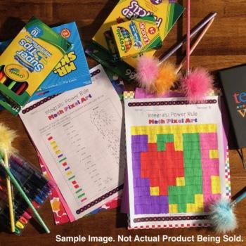Valentine's Day Calculus Integrals BUNDLE: Math Pixel Art Activities