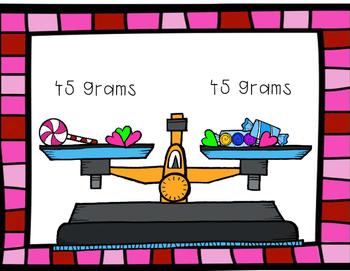 Valentine's Day Candy Balance Scale Craftivity