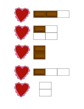 Valentine's Day Candy Bar Fraction File Folder Games