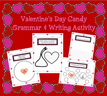 Valentine's Day Candy Comparative Adjectives and Opinion Writing Activity