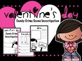 Valentine's Day Candy Crime Scene Science Lab