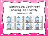 Valentine's Day Candy Heart Counting Numbers 1-10 Clip-it