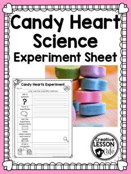Valentine's Day Candy Heart Experiment Recording Sheet