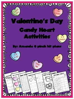 Valentine's Day Candy Conversation Heart Activities