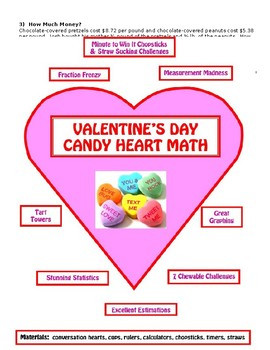 Valentine's Day Candy Heart Math Fun!  BRAND NEW!