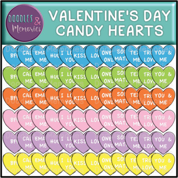Valentine's Day Candy Hearts Clipart