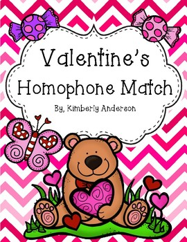 Valentine's Day Candy Homophones Match