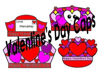 Valentine's Day Cap patterns (3 different caps)