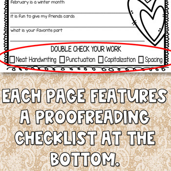 Valentine's Day Reading and Writing