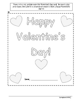 Valentine's Day Card-Adapted Template