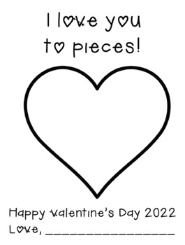 """Valentine's Day Card Pack - """"I Love You to Pieces"""""""