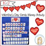 Valentine's Day Cards Pocketchart Money Activity: Promotes