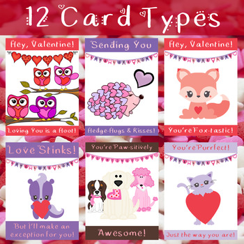 Valentine's Day Card Printables: 12 Styles with Maze or Dots