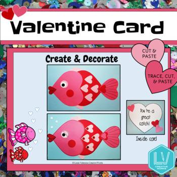 Valentine's Day Card- Valentine Fish