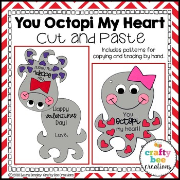 Valentine's Day Card Craft (You Octopi My Heart)