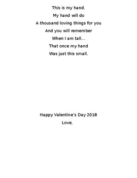 Valentine S Day Card For Parents By Preschool Sweethearts Tpt