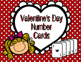 Valentine's Day Number Cards 1-10
