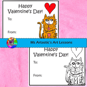 Valentine's Day Cards, Colored or coloring!