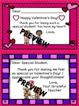 Valentine's Day Cards--Valentine's Day Bookmarks--Thank You Notes