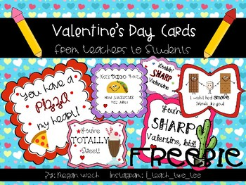 Valentine's Day Cards FREEBIE NO PREP!