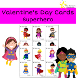 Valentine's Day Cards From Teacher to Students - Superhero