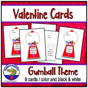 Valentine's Day Cards - Gumball Machine