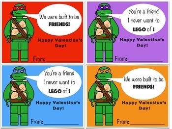 Valentine's Day Cards: (Lego like) Block theme
