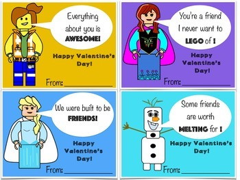Valentine's Day Cards: Building Block theme