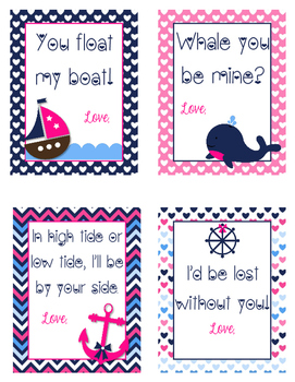 Valentine's Day Cards - Nautical Theme