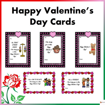 Valentine's Day Cards: Note from the Teacher