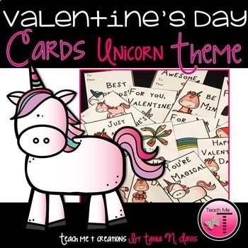 Valentine's Day Cards| Unicorns