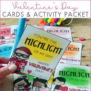 Valentine's Day Cards and Activity Packet