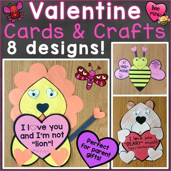 Valentine's Day Crafts, Cards for Parents from Students, Valentine Crafts
