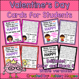 Valentine's Day Cards for Students - Editable in color & b
