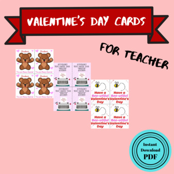 Valentine's Day Cards for Teachers