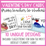 Valentine's Day Cards (from Teacher to Students)