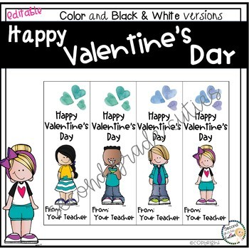 Valentine's Day Cards or Book Marks for Teachers or Students