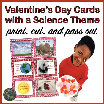 Valentine's Day Cards with a Science Theme!