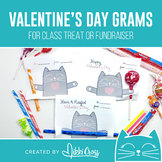 Valentine's Day Cat Candy Grams | Class Treat or School Fundraiser