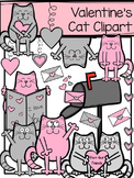 Valentine's Day Cat Clipart
